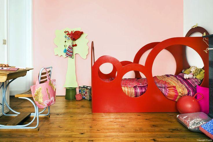 Pastel met pit pastel nergique kleuren couleur tule tulle absoluut rood rouge absolu - Pastel slaapkamer kind ...