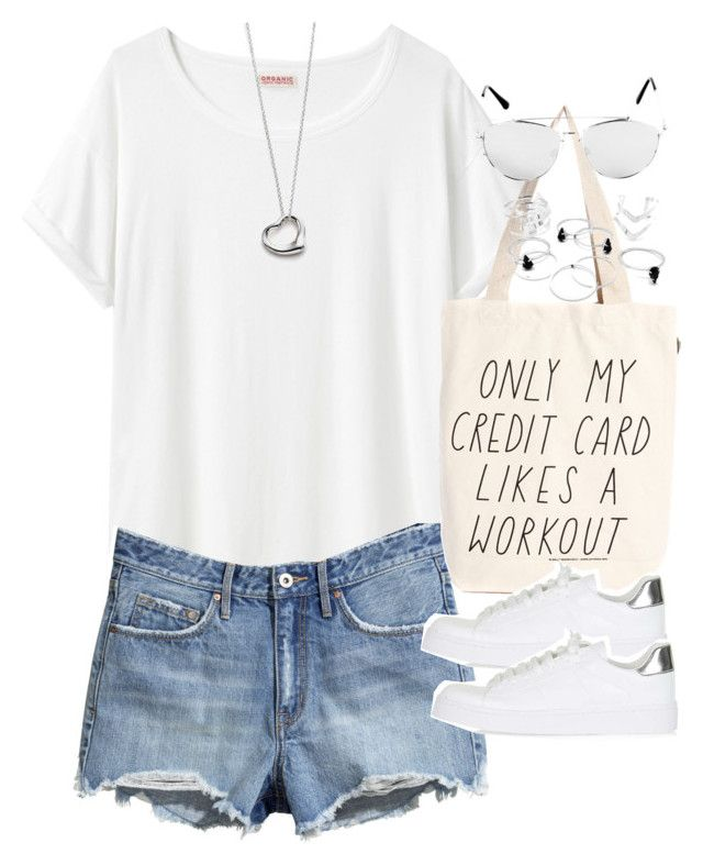 """Outfit for a summer festival"" by ferned on Polyvore featuring Organic by John Patrick, H&M, Talented Totes, Topshop, Elsa Peretti, women's clothing, women's fashion, women, female and woman"