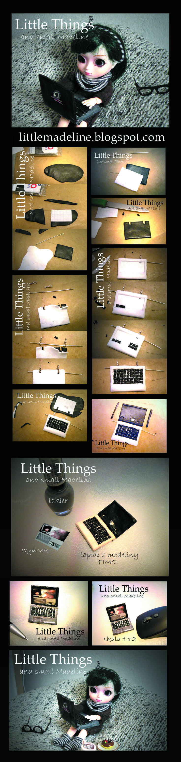 miniarure -laptop for little pullip doll