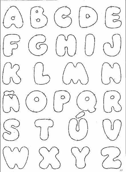 Moldes de letra en foami - Imagui | Letras Divertidas | Pinterest #FONTS #TYPOGRAPHY