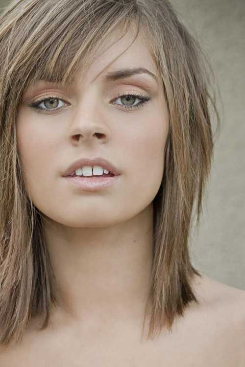 med length haircuts with bangs best 25 layered bangs hairstyles ideas on 3126