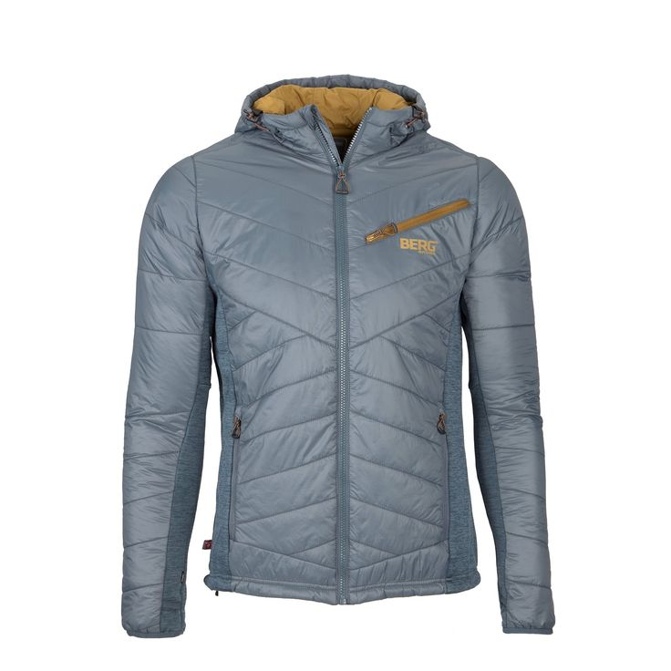 An insulated hooded jacket that will pull off an effective performance both on uneven trails and city streets offering great protection against cold and wind.