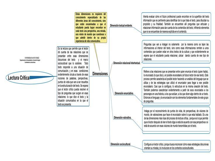 Dimensiones de la Lectura Crítica