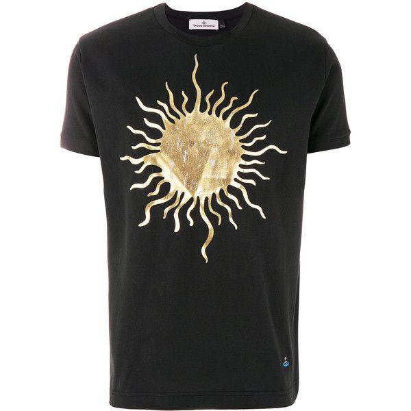 Vivienne Westwood sun foil print T-shirt (3,385 MXN) ❤ liked on Polyvore featuring men's fashion, men's clothing, men's shirts, men's t-shirts, black, mens cotton shirts, mens cotton t shirts, vivienne westwood mens shirts and vivienne westwood men's t shirt
