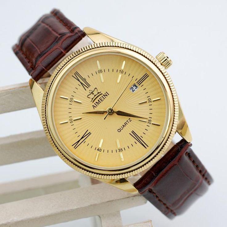 $4.11 (Buy here: https://alitems.com/g/1e8d114494ebda23ff8b16525dc3e8/?i=5&ulp=https%3A%2F%2Fwww.aliexpress.com%2Fitem%2F2015-New-Famous-Brand-Gold-Quartz-Watch-Men-Military-Leather-Strap-Watches-Casual-Relogio-Masculino-Wristwatches%2F32306586684.html ) 2016 New Famous Brand Gold Quartz Watch Men Military Leather Strap Watches Casual Relogio Masculino Wristwatches Brown Clock Hot for just $4.11