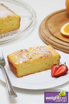 Healthy Cakes Recipes: Orange & Yoghurt Cake. #HealthyRecipes #DietRecipes #WeightlossRecipes weightloss.com.au