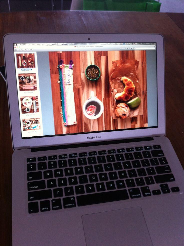 Tratando as imagens e making of do editorial