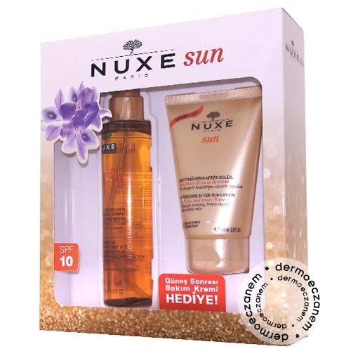 Nuxe Sun Bronzlaştırıcı Yüz ve Vücut Yağı Spf10 150ml Kofre   60,00 TL   Dermoeczanem.com sitesinde en uygun fiyat ve kampanya avantajları ile sizi bekliyor. Doğallığa dayalı Nuxe felsefesinin cildinize dokunuşunu hissedin.
