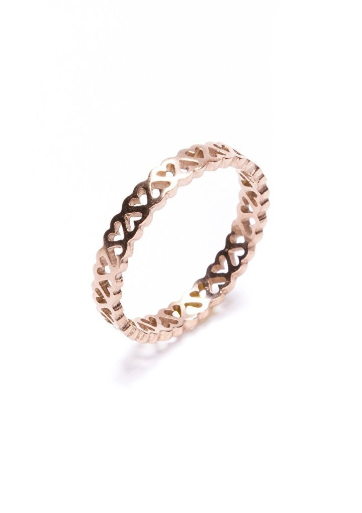 Heart Bouquet Ring in Roae Gold ❤ So cute