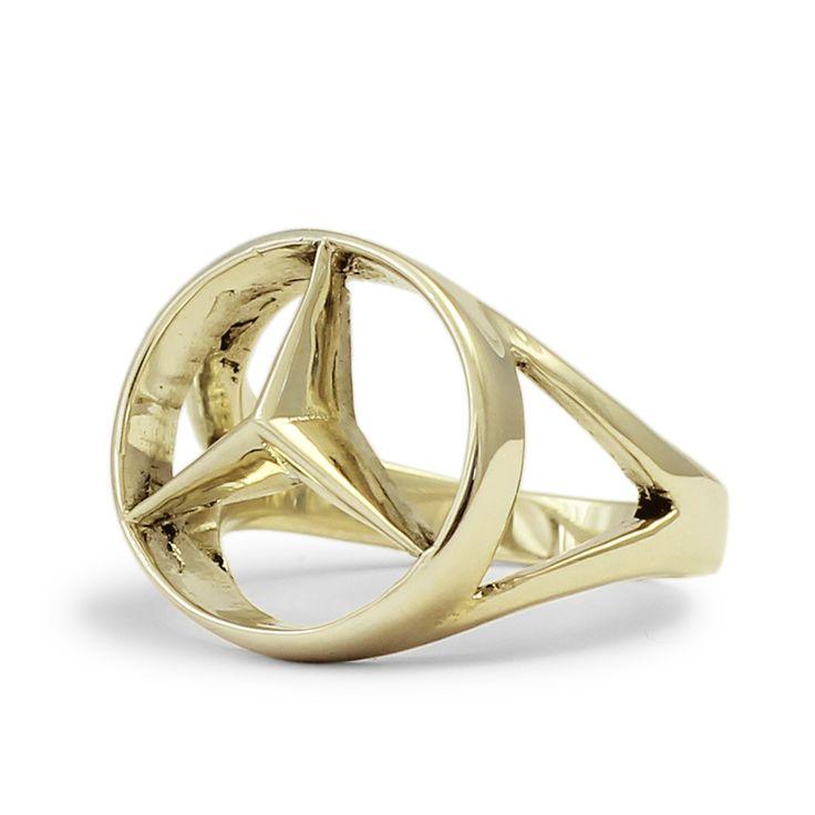 Bronze Mercedes-Benz Ring - CONCAVE HEXAGON