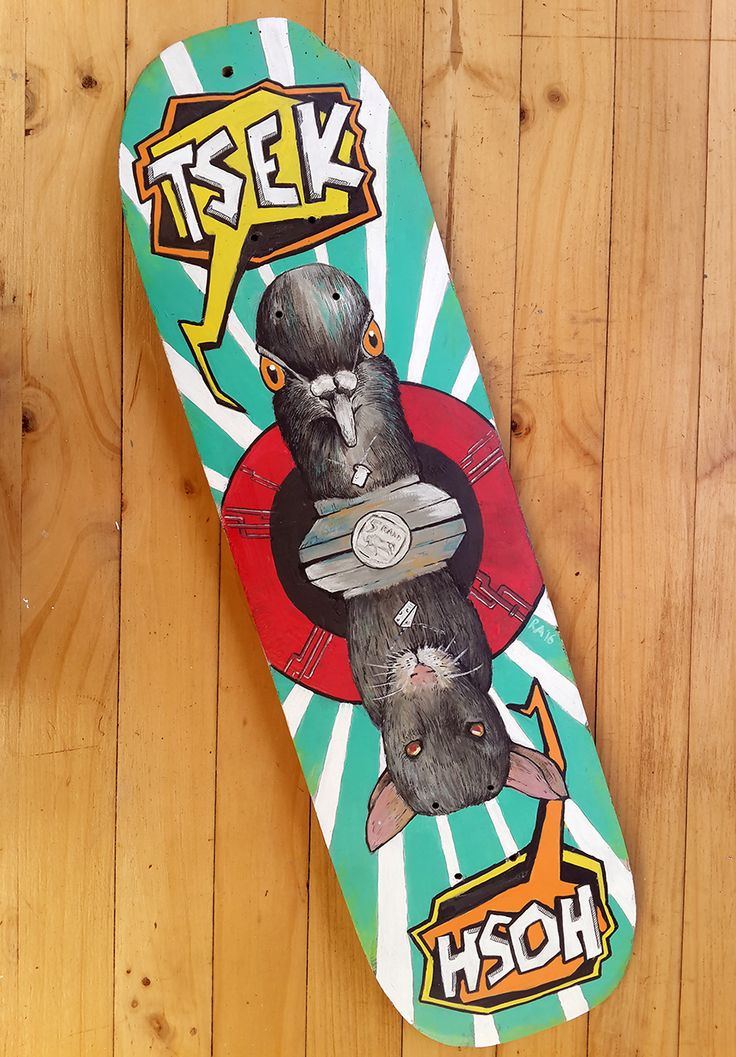 "This reclaimed skate deck is hand-painted and produced for the 2016 Colours Of You SA Creative Festival which recently took place in Port Elizabeth. Several artists were selected to transform a skatedeck into an artwork and then have them exhibited at the event.  30% of the sale of this artwork will be donated to Umzobo Wam, which ""supports South African children in sharing stories of township life through art and photography. ""You can find out more about them HERE.  This piece is titled…"
