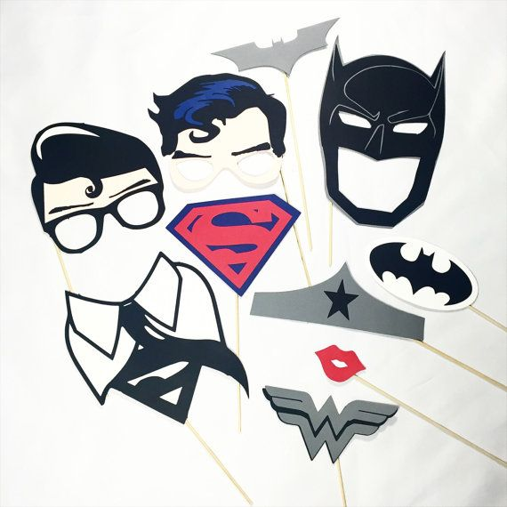 Superman VS Batman photobooth props by LeStudioRose on Etsy