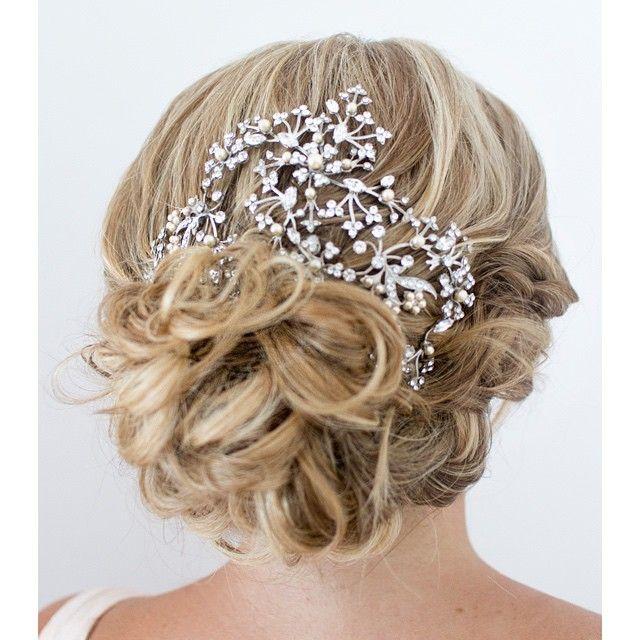 soft wedding updo ~  we ❤ this! moncheribridals.com #bridalupdo