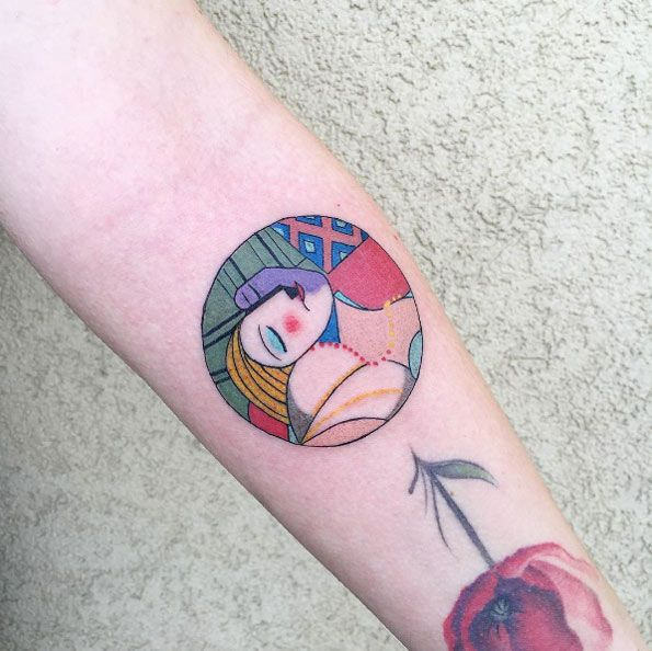Picasso's The Dream tattoo design by Bombay Foor