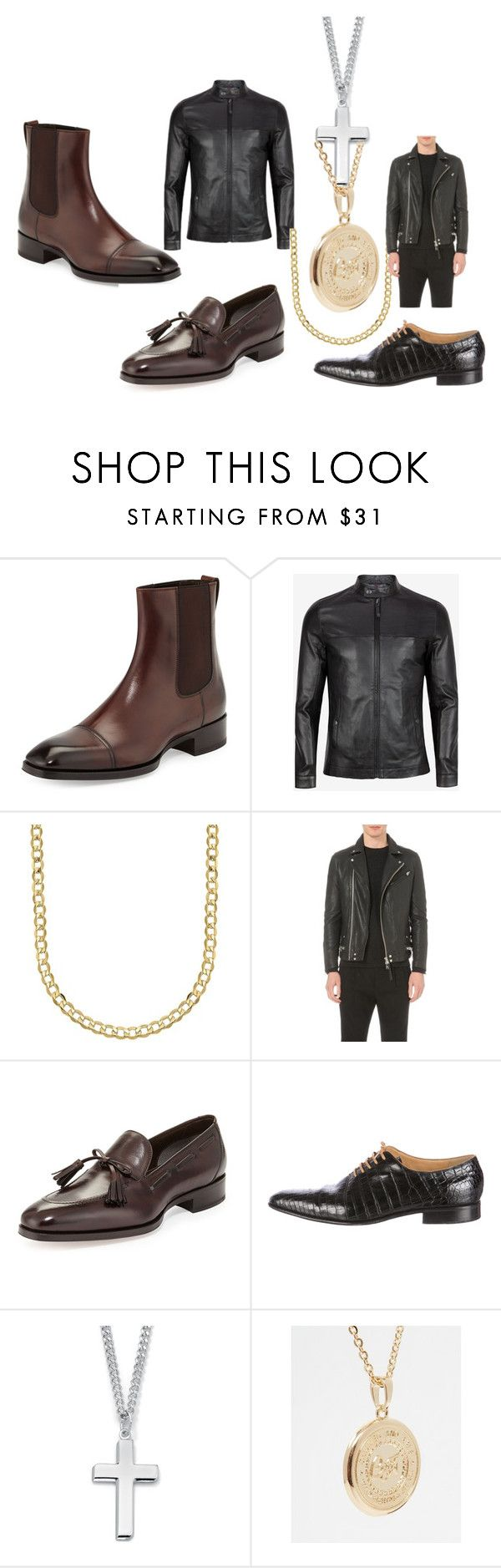 """men"" by srishti-kar on Polyvore featuring Tom Ford, Ted Baker, Lord & Taylor, AllSaints, Stefano Ricci, Palm Beach Jewelry, Chained + Able, men's fashion and menswear"