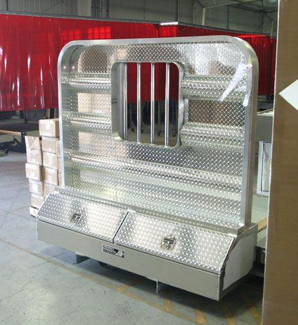 Big Dump Trucks >> Headache racks for semi trucks by Highway Products | Trucking | Semi trucks, Truck tool box, Trucks