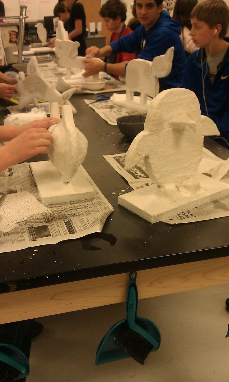 7th grade 3-D students finished up their clay cupcakes and were eager to begin their next project. We looked at the artwork of pop artist, ...