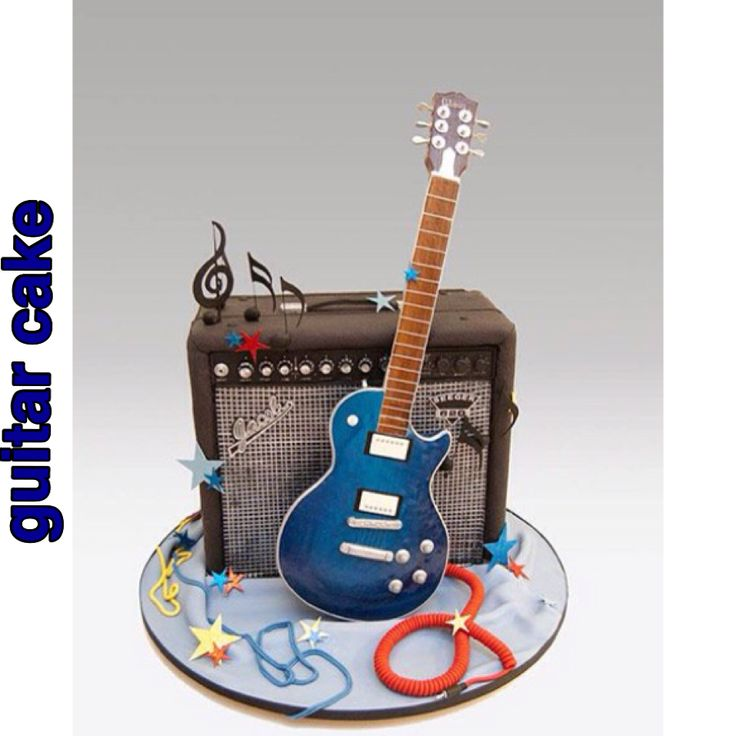 Guitar Cake Decorating Kit : 86 best images about hudebni on Pinterest Drum cake ...