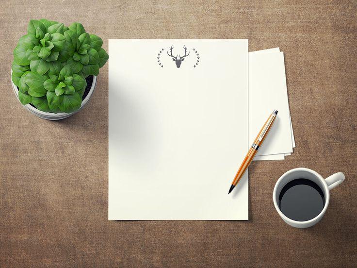 Papier à lettre imprimable Tête de chevreuil format 8.5x11, Printable writing paper Deer head stationary paper, papier à écrire à imrpimer par CreationAnnLatulippe sur Etsy https://www.etsy.com/ca-fr/listing/585431670/papier-a-lettre-imprimable-tete-de