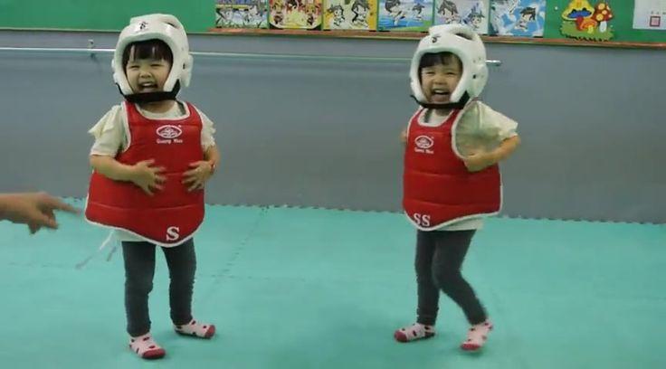 World's Cutest Taekwondo Fight - Cute Videos