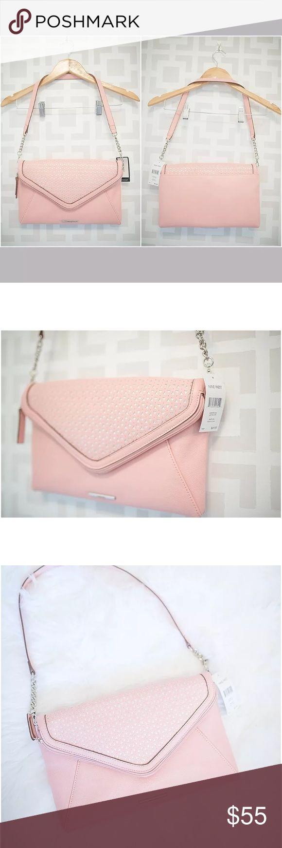 Blush pink laser cut Floral shoulder bag NWT Gorgeous shoulder bag! Nine West Bags Shoulder Bags