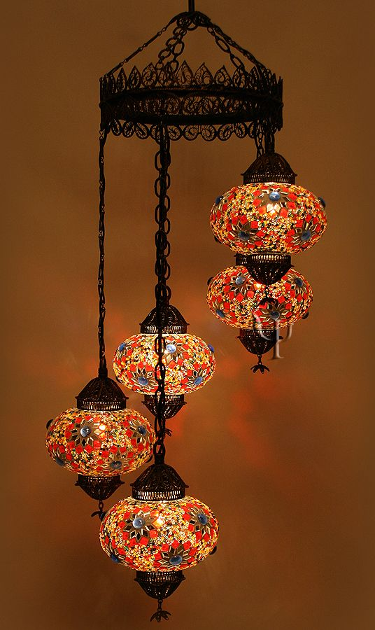 Turkish Mosaic Lamps Ottoman Chandeliers Hanging