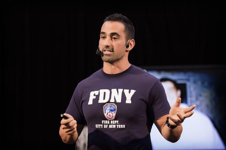 Keynote Speaker Christian Marchegiani speaking to attendees at GO Festival.