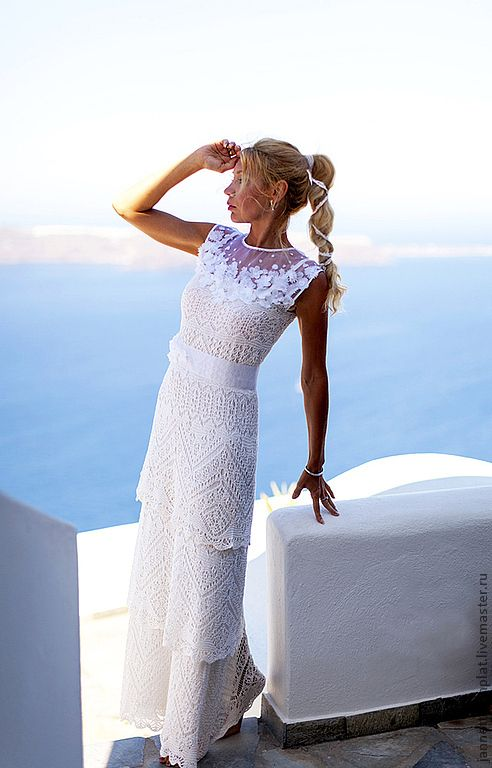 """платье """"Пенелопа. Верность."""" - белый,однотонный,свадебное платье,лето 2012"""