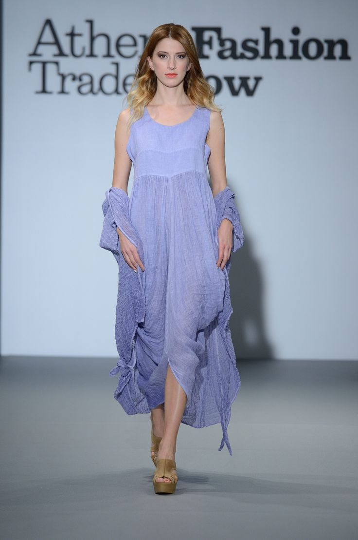 Eclectia: Amazing ancient greek style linen dress.  Lavender color . 100% Natural fabrics