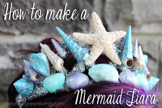 How to Make a Stunning Mermaid Tiara ~ Creative Green Living - Click thru for the full tutorial for this Halloween costume DIY idea using the Martha Stewart Crafts line