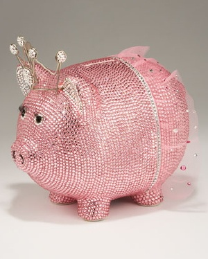Pink Sparkly Piggy Bank. Your favourite piggy banks: http://www.helpmetosave.com/2012/02/piggy-bank/