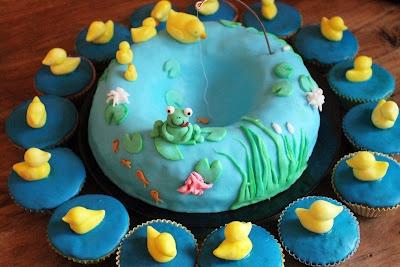 Fishpond cake.