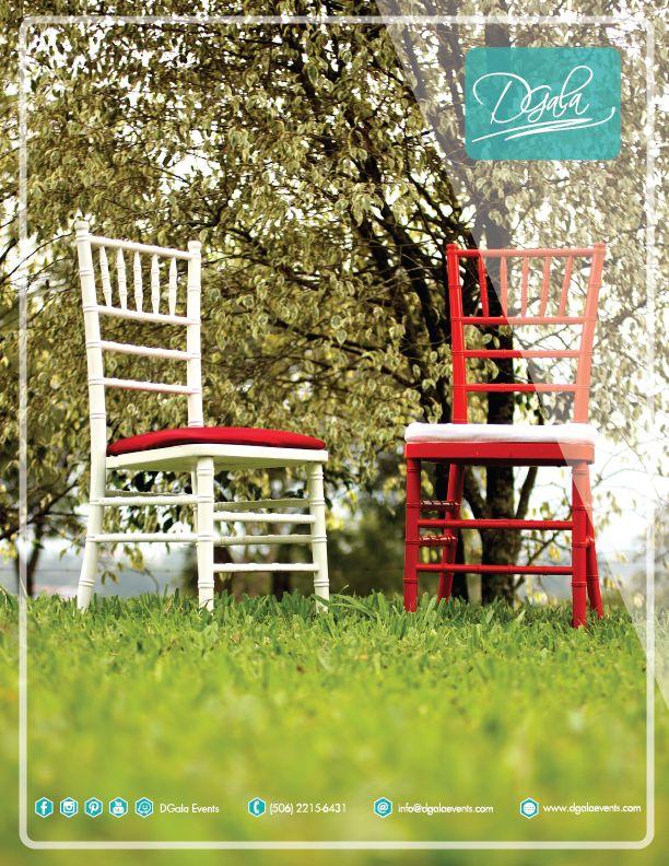 Sillas Tiffany En DGala Events encontrar la clásicas e infaltables sillas Tiffany, las tenemos disponibles en blanco, negro, chocolate, rojo y cristal. Vistanos en nuestra sala de exhibición en Guachipelín de Escazú o podés llamarnos al 22-15-64-31 #SomosDGala #SillasTiffany