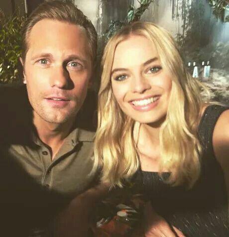 Alexander Skarsgard & Margot Robbie selfie (stars of 'The Legend of Tarzan') 2016.06