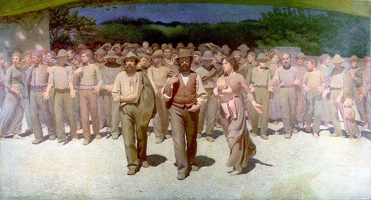 Volpedo, Pellizza da, (1868-1907), Il Quarto Stato, 1901, Oil