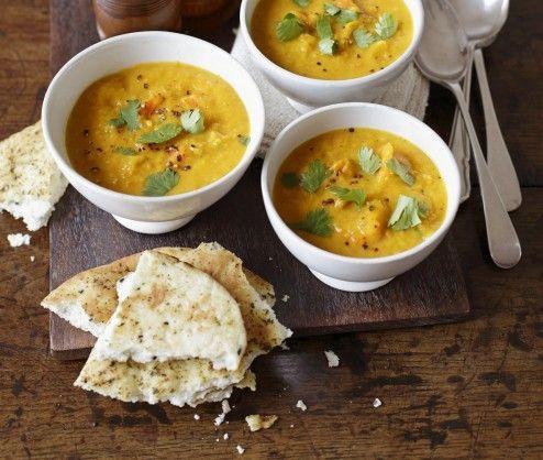 squash, lentil & coconut soup