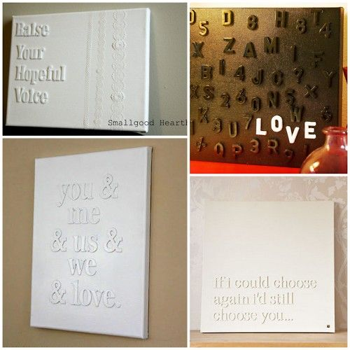 Michaels Wall Decor Diy : Best images about letters on canvas