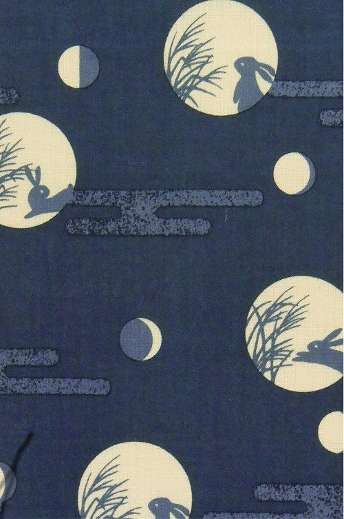 17 best images about the rabbit in the moon on pinterest for Moon pattern fabric