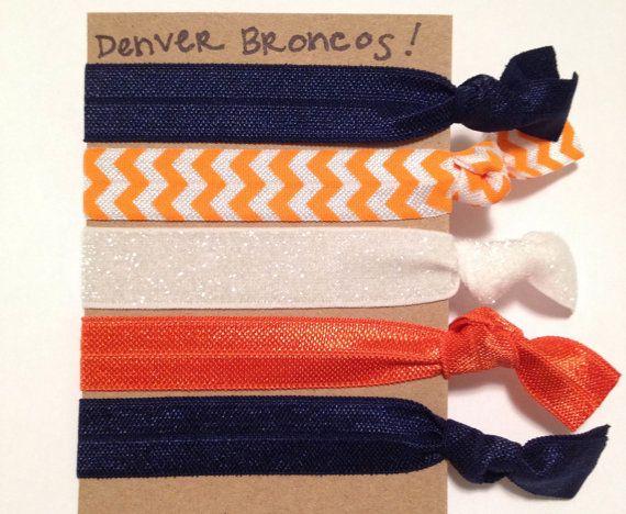 Denver Broncos Creaseless Hair Ties