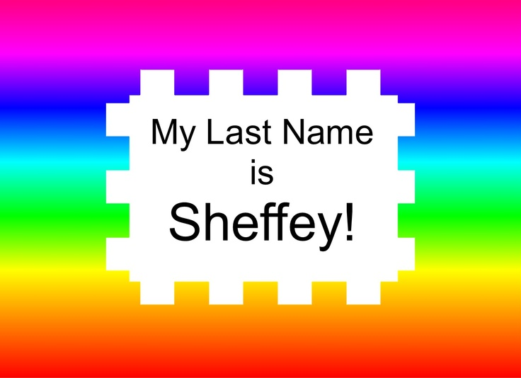 Just for fun, I started a Facebook page for everyone with the last name Sheffey.    It would be interesting to see,   if and how we Sheffeys   may all be related.