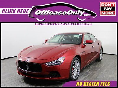 2016 Maserati Ghibli S Q4 AWD Off Lease Only Rosso Energia Pearlescent 2016 MaseratiGhibliS Q4 AWD with 8405 M