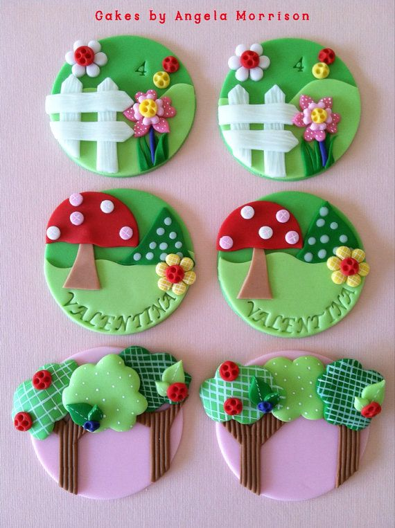 Gum Paste Toppers ...Lalaloopsy inspired cupcake toppers by CakesbyAngela on Etsy, $65.00