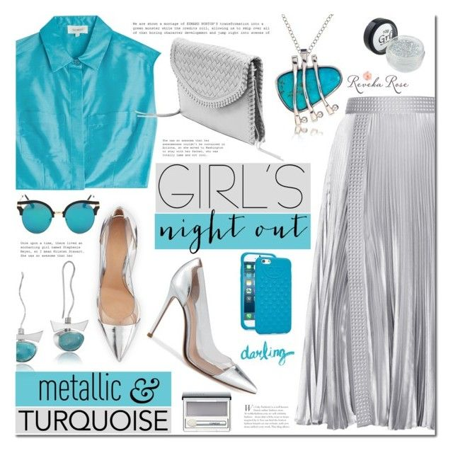 Girls' Night Out: Summer Edition by mada-malureanu on Polyvore featuring Isa Arfen, Christopher Kane, Tory Burch, Clinique, Silver, girlsnightout and revekarose