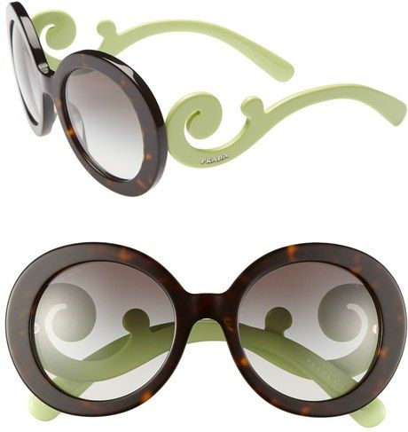 Prada ~ Baroque Round Sunglasses