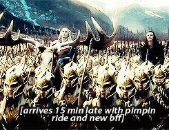 """""""What you missed in the new Battle of the Five Armies trailer- oh, #thranduil... the ever so majestic, fabulous king of #mirkwood"""""""