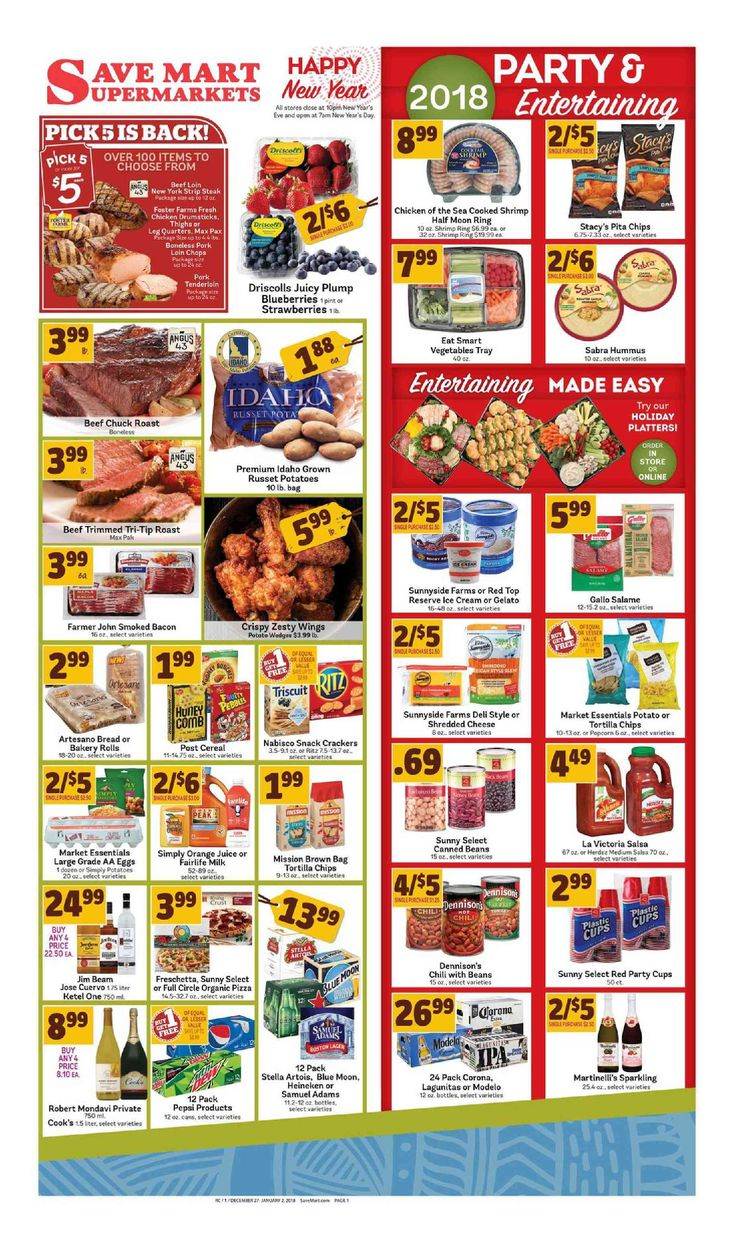 Save Mart Weekly ad December 27 – January 2, 2018 - http://www.olcatalog.com/save-mart/save-mart-weekly-ad.html