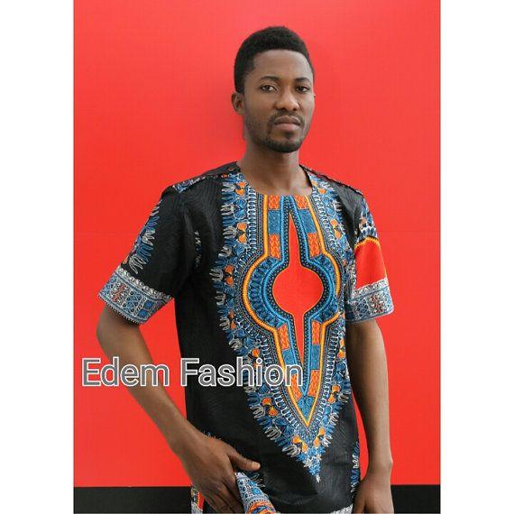 África ropa dashiki camisa dashiki hombres traje por EdemFashion