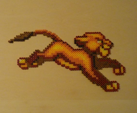 Simba Lion King Perler Bead Sprite by monochrome-GS on deviantART