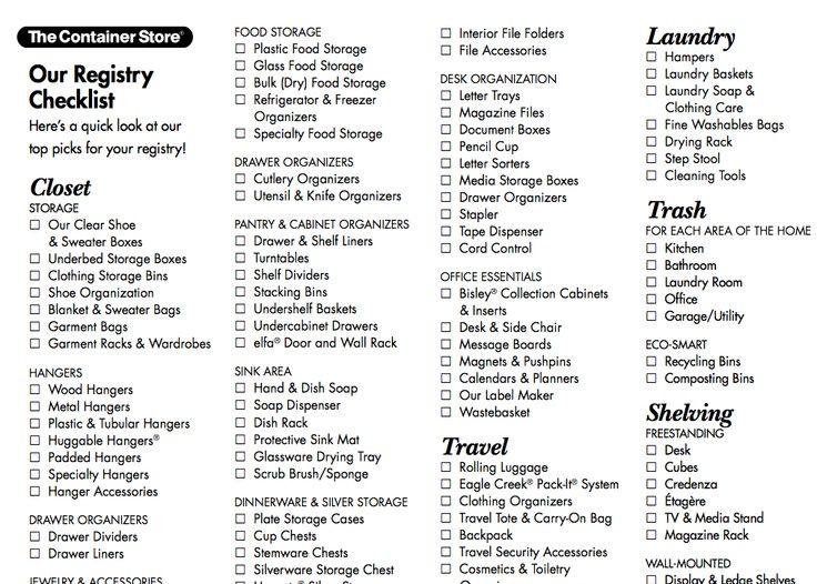 The 25+ best Wedding registry checklist ideas on Pinterest - wedding list