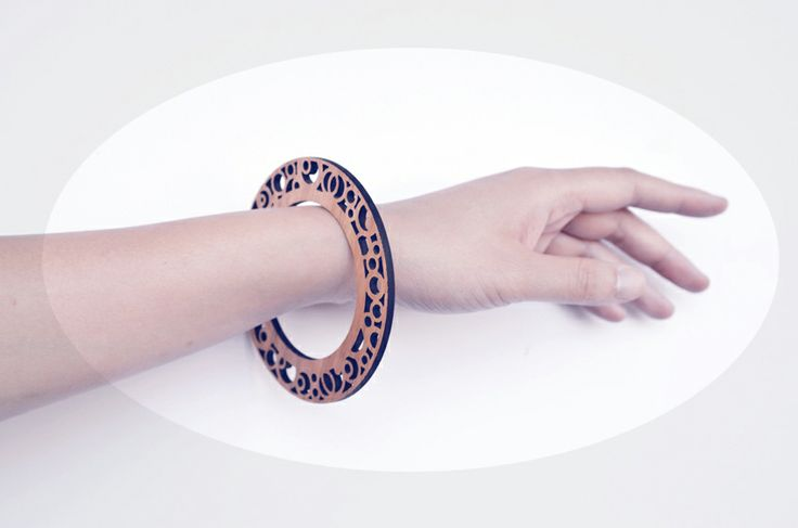 Laser cut timber bangles by iamto'b